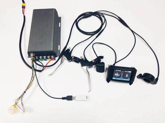 TFT display 48 v-72 v 80A 5000 watt elektrische bike controller sinus welle system bluetooth einstellung sabovton controller