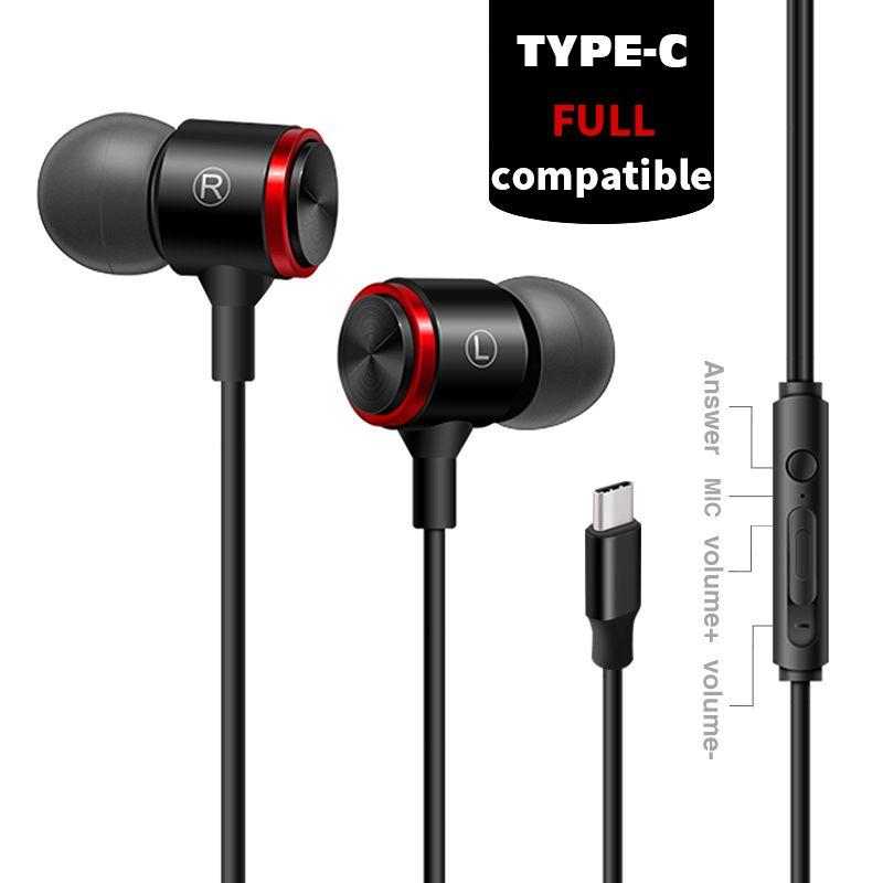 Typ-C In Ohr Volle Kompatibel Kopfhörer Digital Wired Steuerung Verlustfreie Audio Earbuds mit DAC Chip Mikrofon 2018 NEUE