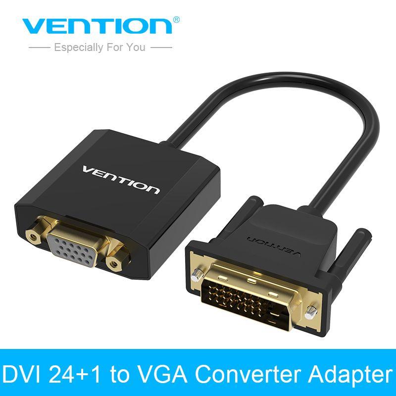 Convention DVI 24 + 1 à VGA Convertisseur adaptateur numérique à analogique audio converter câble pour Xbox360 PS3 Portable TV box à projecteur