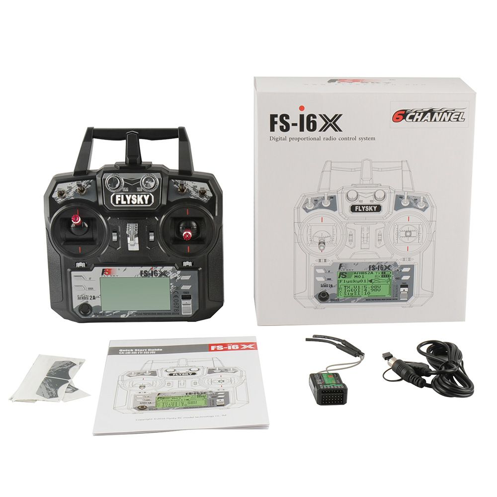 FlySky FS-I6S FS-I6X FS-i4X FS-i4 10CH 2.4G RC Quadcopter Transmitter Controller Set /Receiver FS-iA6B or FS-IA10B Cost price