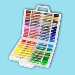 12/24/36 Warna Yang Larut Dalam Air Halus Oil Painting Stick Anak-anak Krayon Rotasi TK Pendidikan Menggambar Perlengkapan