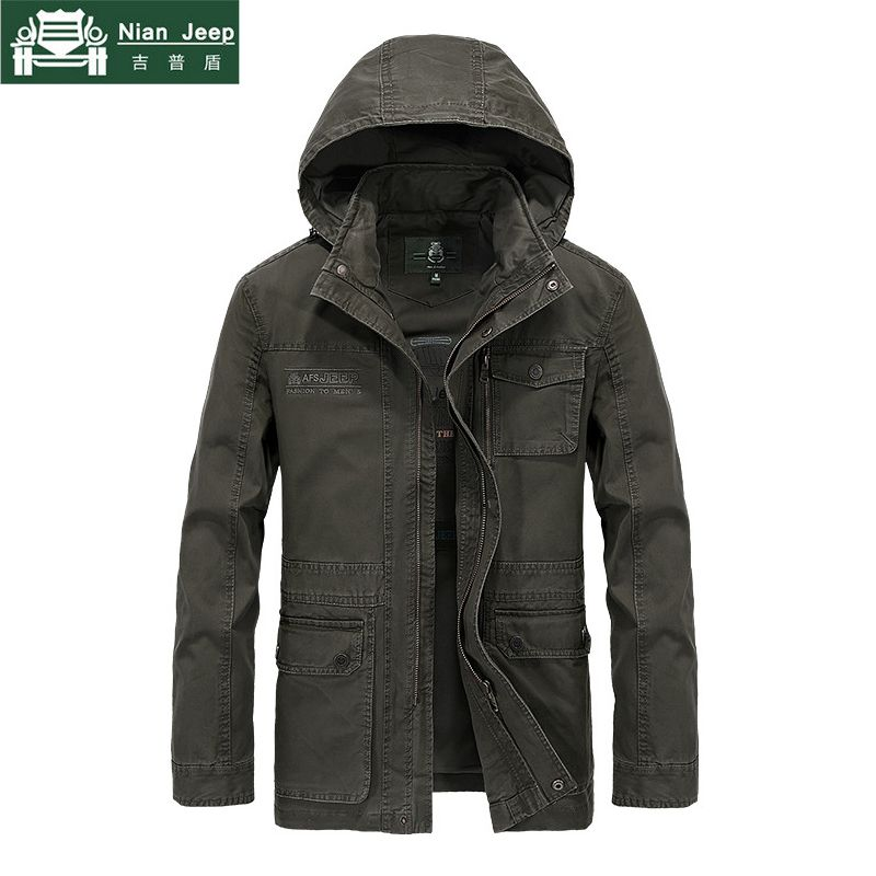 Brand Military Jacket Men High Quality Plus Size M-4XL Men's Autumn Casual Cotton Jacket and Coat Spring Men Hooded Mens Jackets