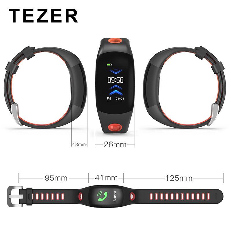 TEZER DM11 3D Dynamic UI Smart Band IPS Color Screen Bluetooth Wristband IP68 Waterproof Bracelet Heart Rate Fitness Tracker