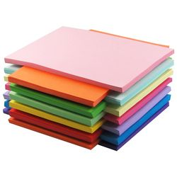 100pcs A4 80g Color Copy Paper Multicolor Available Children Handwork Origami Colored Paper