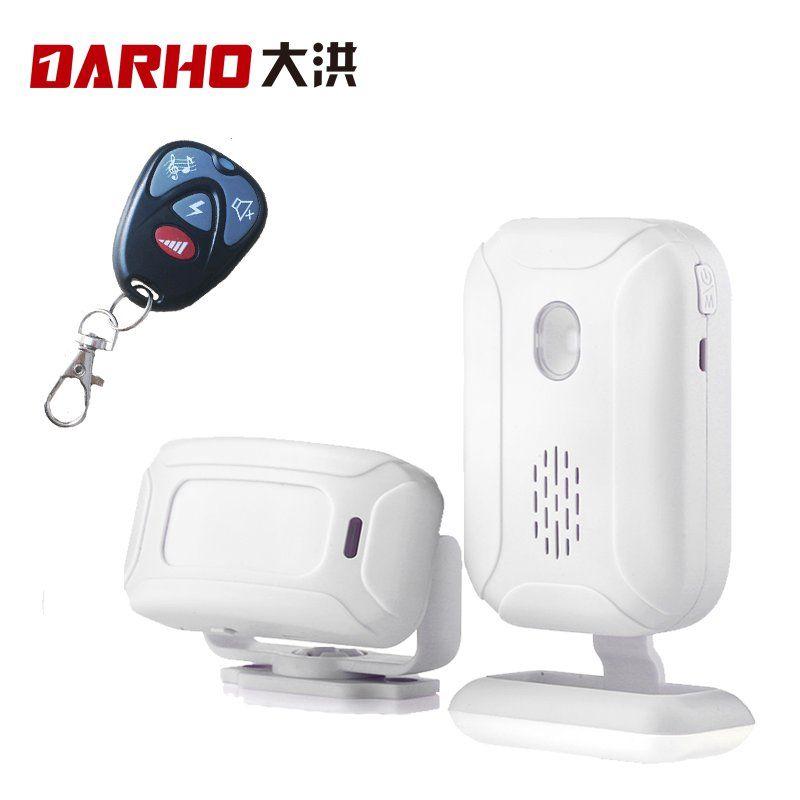 Darho boutique magasin accueil entrée sécurité bienvenue carillon sonnette sans fil infrarouge IR capteur de mouvement dispositif de bienvenue sonnette alarme