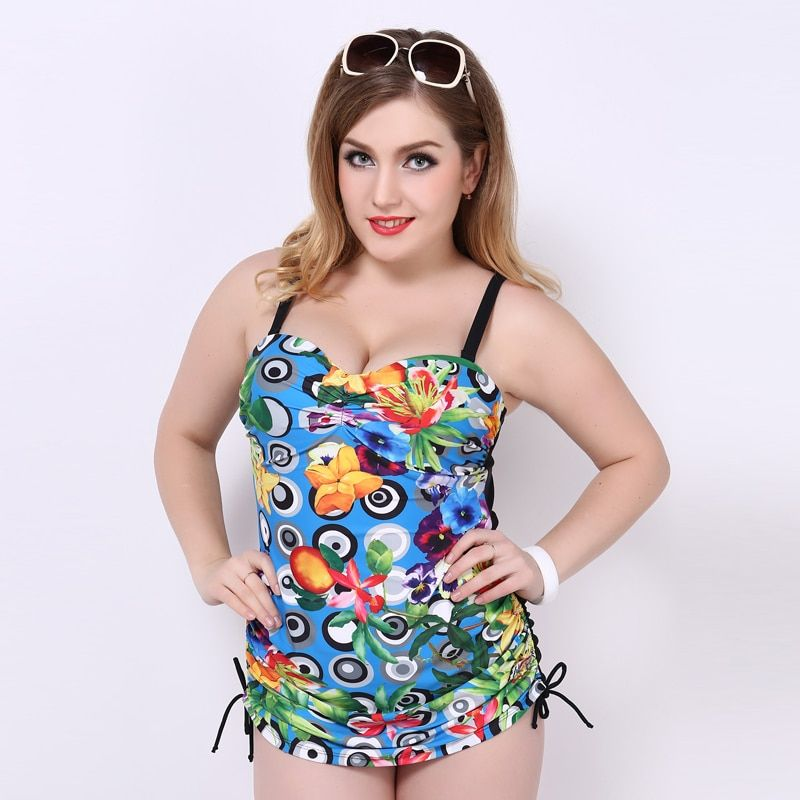 female one-piece women swimwear sexy sling halter back lace big size large cup plus bust swimsuit bathing suit body suit