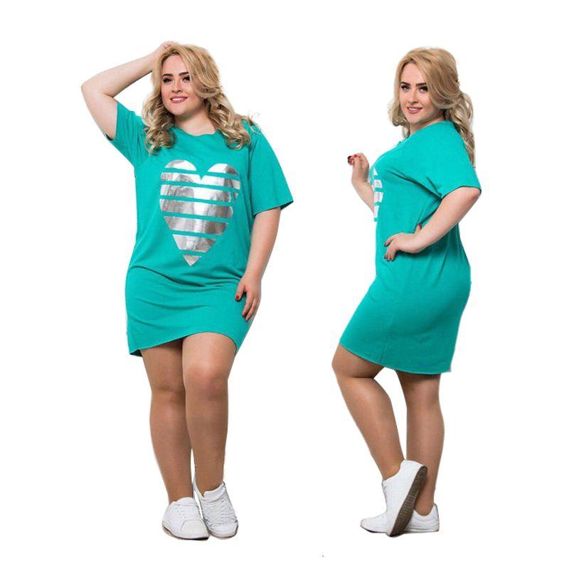 2019 nouvelles femmes Vestidos grande taille robe d'été Maxi surdimensionné 6XL O cou décontracté droite Patchwork au-dessus du genou Mini robes fête