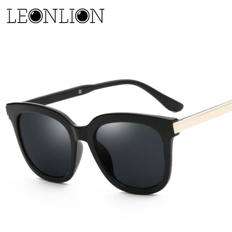 LeonLion 2017 Top Marque Designer lunettes de Soleil Femmes Hommes De Luxe Bonbons Ronds Objectif Lady Ronde Soleil Lunettes Classique Rétro Lunettes