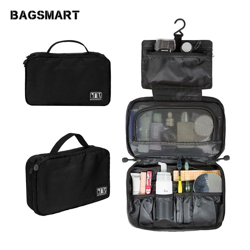 BAGSMART accessoires de voyage Sacs Étanche Portable trousse de toilette pochette cosmétique Suspendus Sacs de Lavage Léger trousse de maquillage
