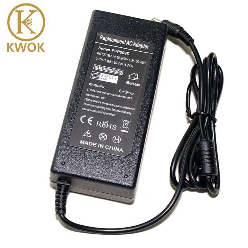 2017! 19 v 4.74a 5.5*2.5mm 90 w pour asus ac adaptateur alimentation ordinateur portable Chargeur ADP-90AB ADP-90CD DB A46C M50 X43B S5 W7 F25
