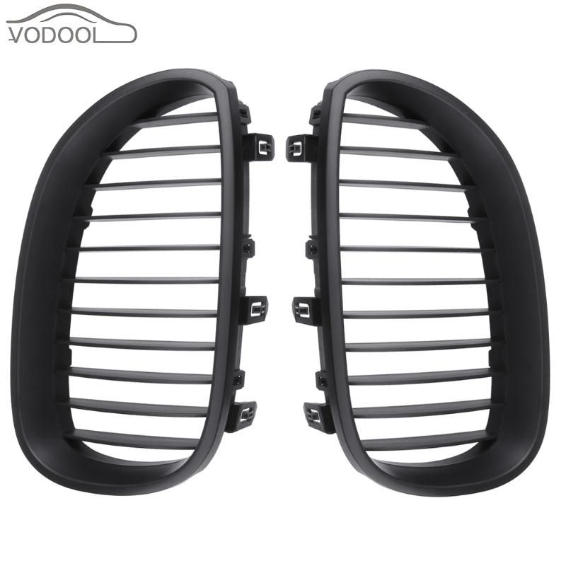 1 Pair Car Touring Black Sport Front Kidney Grille Racing Grill for BMW E60 E61 M5 2003-2009 Auto Accessories