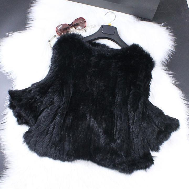 Genuine Rabbit Fur Poncho Real Fur Pashmina Shawls For Female Knitted Rabbit Fur Cape White Bride Wedding Fur Shawl Winter