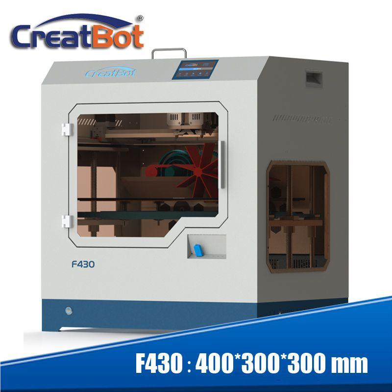 3d drucker Creatbot F430 metall dual extruder volle geschlossen große farbe touch screen print größe 400*300*300mm 2 düse