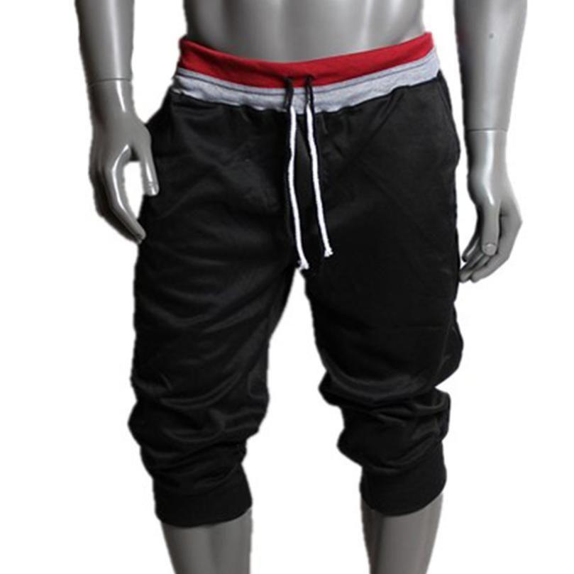 2019 Mature hommes pantalon décontracté coupe large hommes Sweat pantalon Harem danse Baggy Standard épaisseur solide été pantalon TW pantalon hommes
