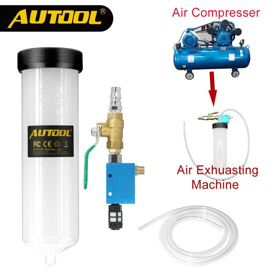 AUTOOL C20 Car Brake Fluid Bleeder Change Oil Tool Auto Hydraulic Clutch Oil Replacement Pump Empty Exchange Drained Kit