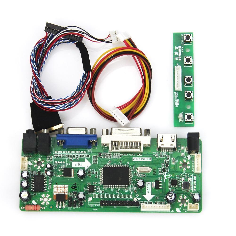 M. NT68676 LCD/LED Controller Driver Board Für LP156WH4 (TL) (A1)/(TL) (N1) (HDMI + VGA + DVI + Audio) 1366*768