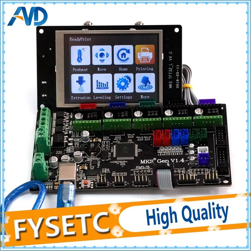 MKS Gen V1.4 Control Board Compatible For Ramps1.4/Mega2560 R3 3D Printer Parts With MKS TFT32 LCD Screen Display