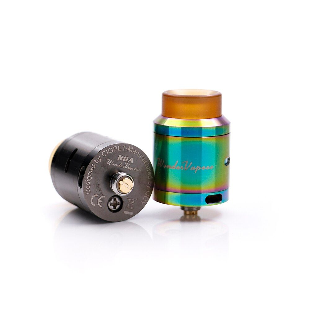 Original IJOY Wondervape RDA 24mm diameter atomizer with Protruding 510 pin designed Two Post Build Deck e-cig DIY RDA vape