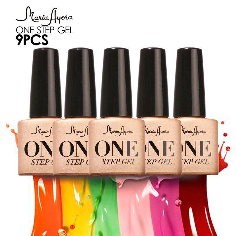 9PCS 3 in 1 gel nails one step Gel nail Polish Nail Gel Polish Soak Off Nail Gel