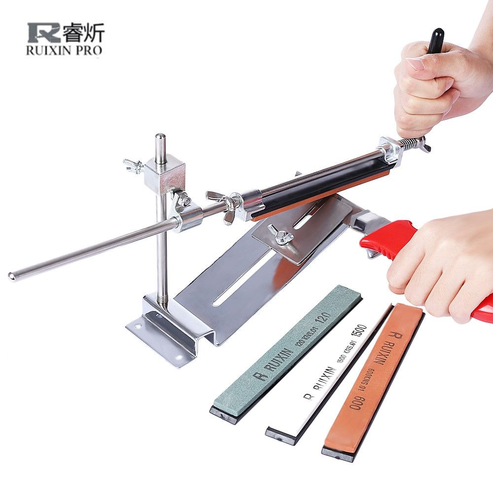 Professional Knife Sharpener Set Iron Steel Kitchen Knife Sharpener Grinder Sharpening Fix Fixed Angle with whetstones