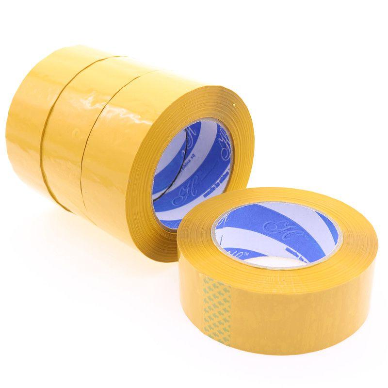Venta al por mayor de materiales de embalaje 110 m * 4.4 cm amarillo Cintas embalaje de calidad Cintas peso neto 290g longitud total de 110 m