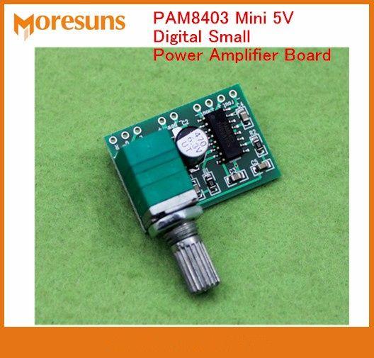 Fast Free Ship 50pcs/lot PAM8403 Mini 5V Digital Small Power Amplifier Board(USB 5V supply)GF1002