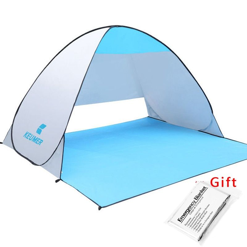 KEUMER Beach <font><b>Tent</b></font> Pop Up Open Camping <font><b>Tent</b></font> Fishing Hiking Outdoor Automatic Instant Portable (120+60)*150*100cm Anti UV Shelter