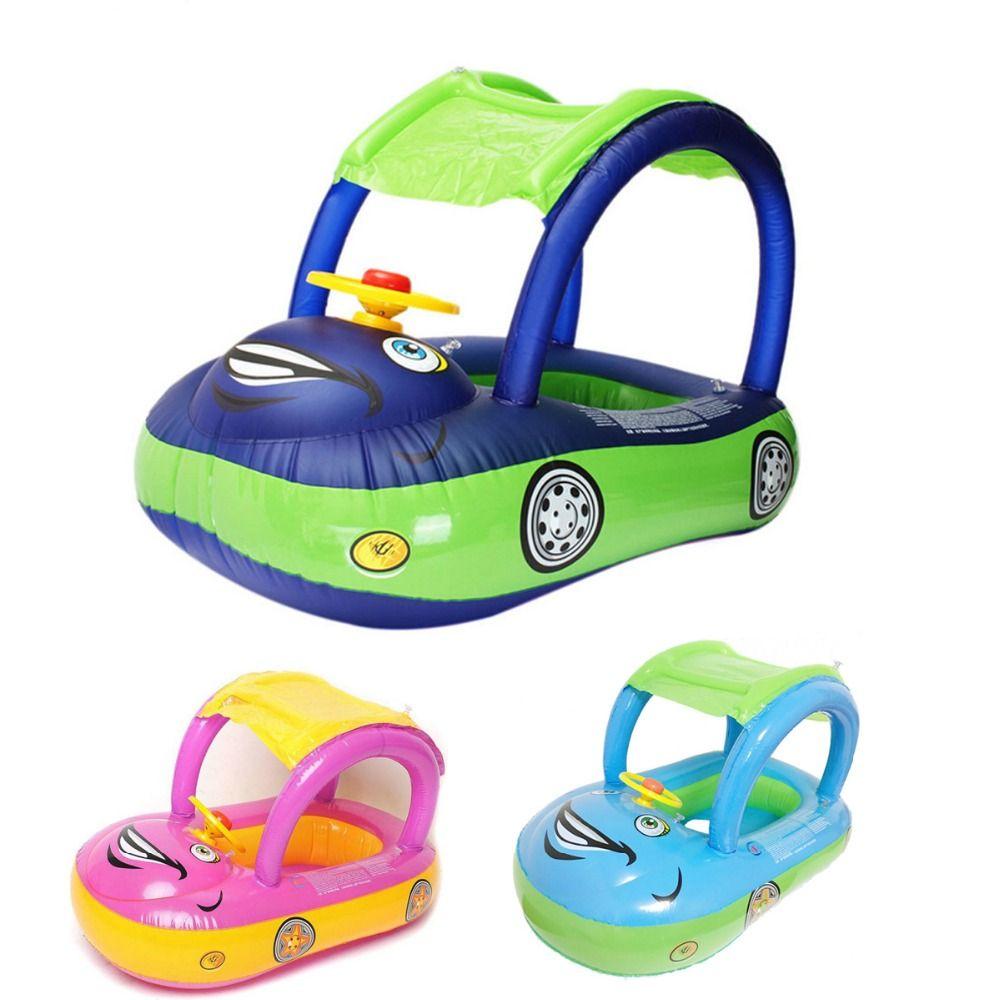 Été bébé enfants bande dessinée flotteur siège voiture bateau natation gonflable enfants caoutchouc PVC cercles sécurité nageur piscine accessoires