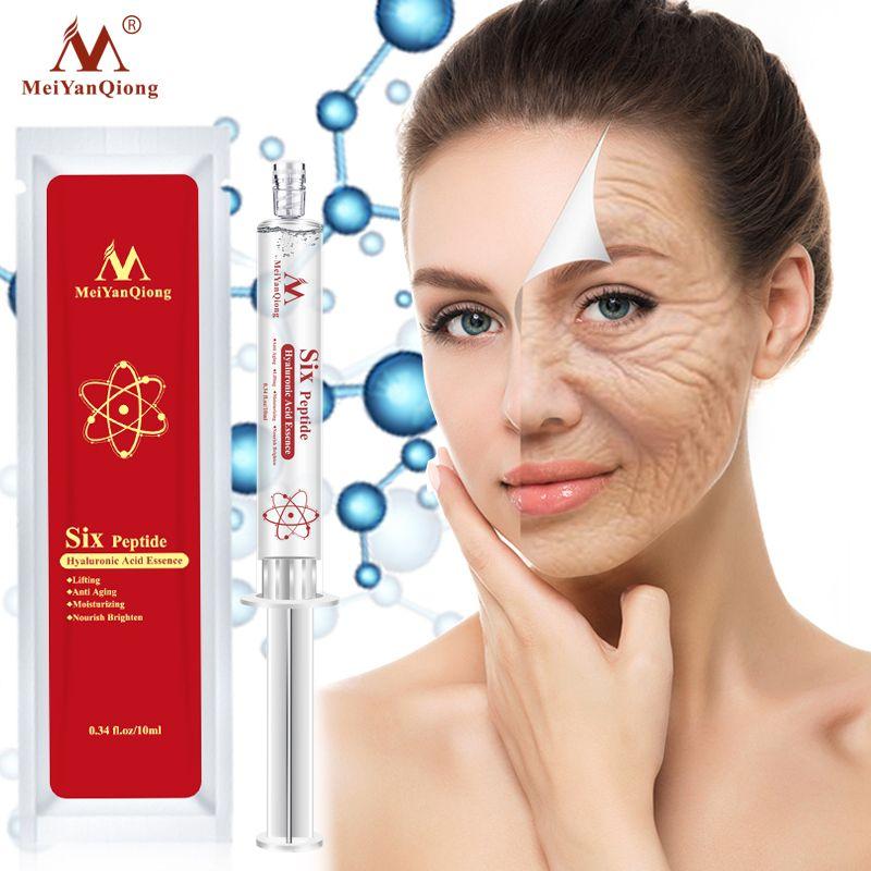 Six Peptide Hyaluronic Acid Essence Anti Aging Anti Wrinkle Lifting Face Serum Repair Concentrate Rejuvenation Skin Care Cream