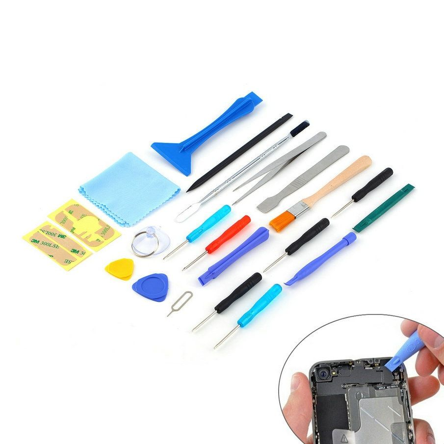 2017 Hot Weltweit 22 in 1 Öffnen Hebeln handy reparatur Schraubendreher Sucker handwerkzeuge set Kit Für Handy Tablet
