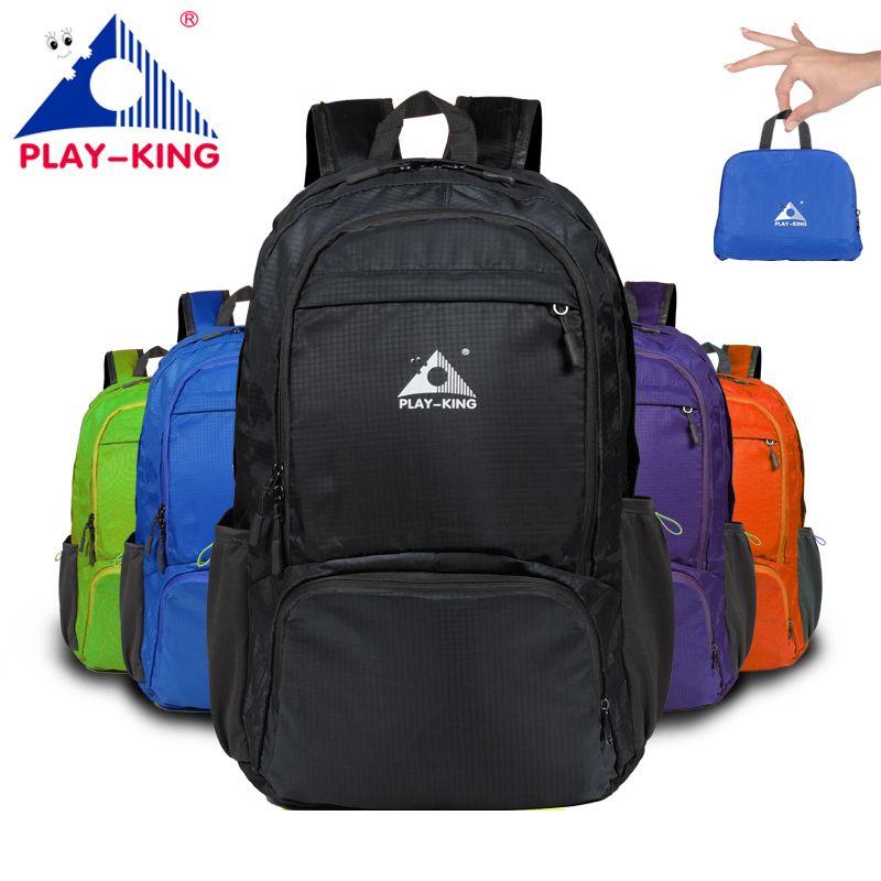 PLAYKING foldable waterproof backpack outdoor travel folding lightweight bag bag sport Hiking gym mochila Bagpack storage bag