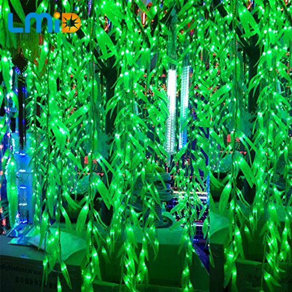 LMID 4*0.6 M Hoja Salix Artificial Vid carámbano cortina de Luz led Para El Hogar Jardín de Luminarias LED Decoración de Navidad luz