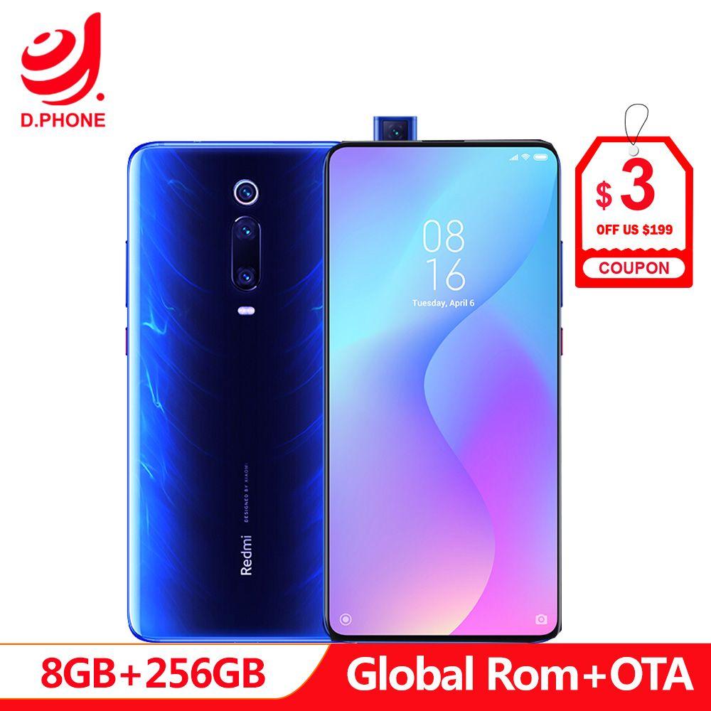 Offizielle Globale Rom Xiaomi Redmi K20 Pro 8 GB 256 GB Smartphone Snapdragon 855 Octa Core 4000 mAh Pop- up Vorne Kamera 48MP Kamera