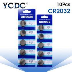 Chaude 10 pcs CR2032 CR 2032 Lithium Li-ion 3 V Pile Bouton Coin Batterie DL2032 BR2032 SB-T15 EA2032C ECR2032 L2032 grande Promotion