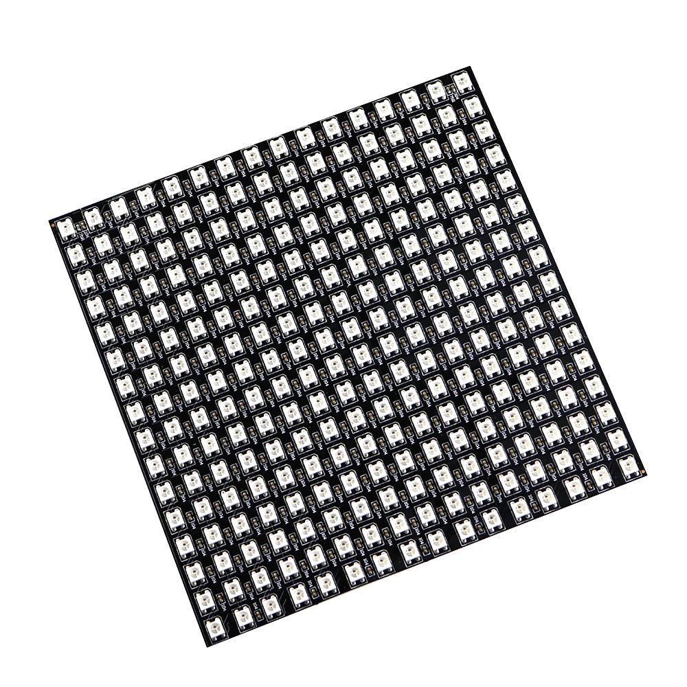 Matrice 16*16 Pixel 256 Pixels WS2812B WS2812 panneau de LED Flexible numérique adressable individuellement 5050 rvb pleine couleur de rêve DC5V