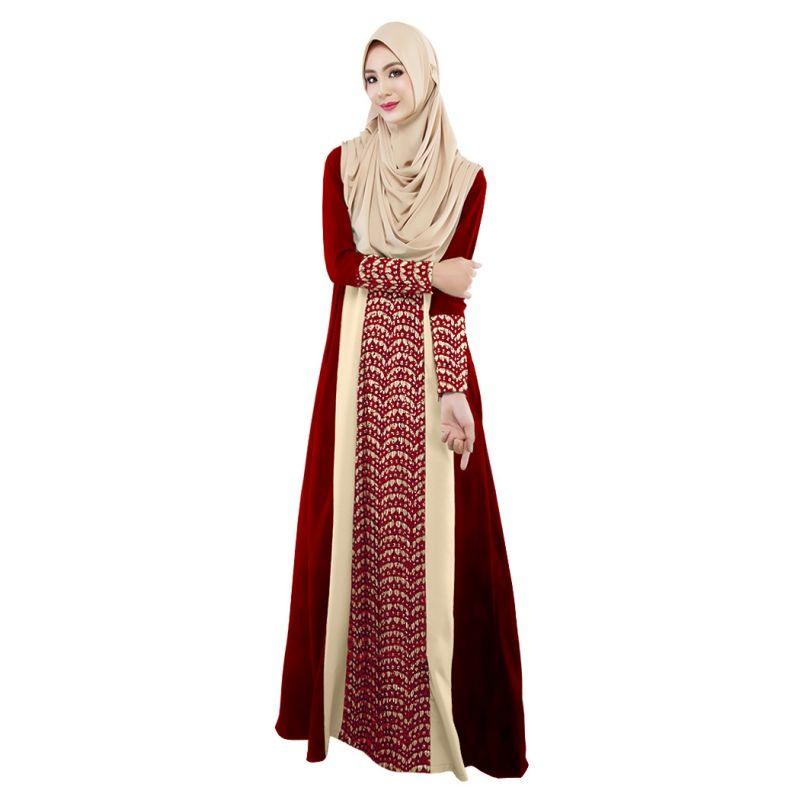 Las Mujeres maxi Vestido de encaje de manga Larga de Dubai abaya jalabiya musulmán mujeres islámicas ropa vestido Marroquí moda bordado