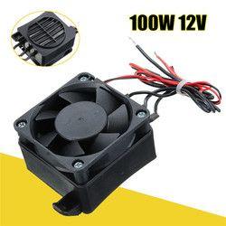 100 W 12 V DC PTC Ventilateur Chauffe-Eau Constant Température Incubateur Chaude Espace Thermostat Noir NOUVEAU