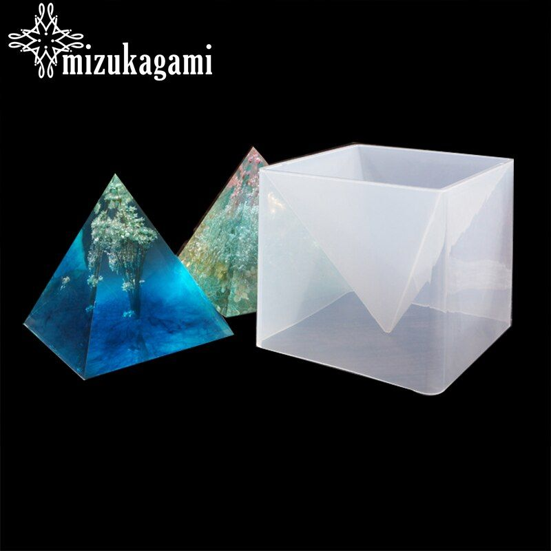 1PCS 15cm UV Resin Jewelry Liquid Silicone Mold Big Pyramid Shape Mold Resin Molds For DIY Jewelry Making Finding Accessories