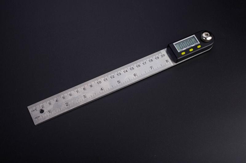 Règle d'angle Portable inclinomètre rapporteur numérique 200mm IP54 acier inoxydable 6