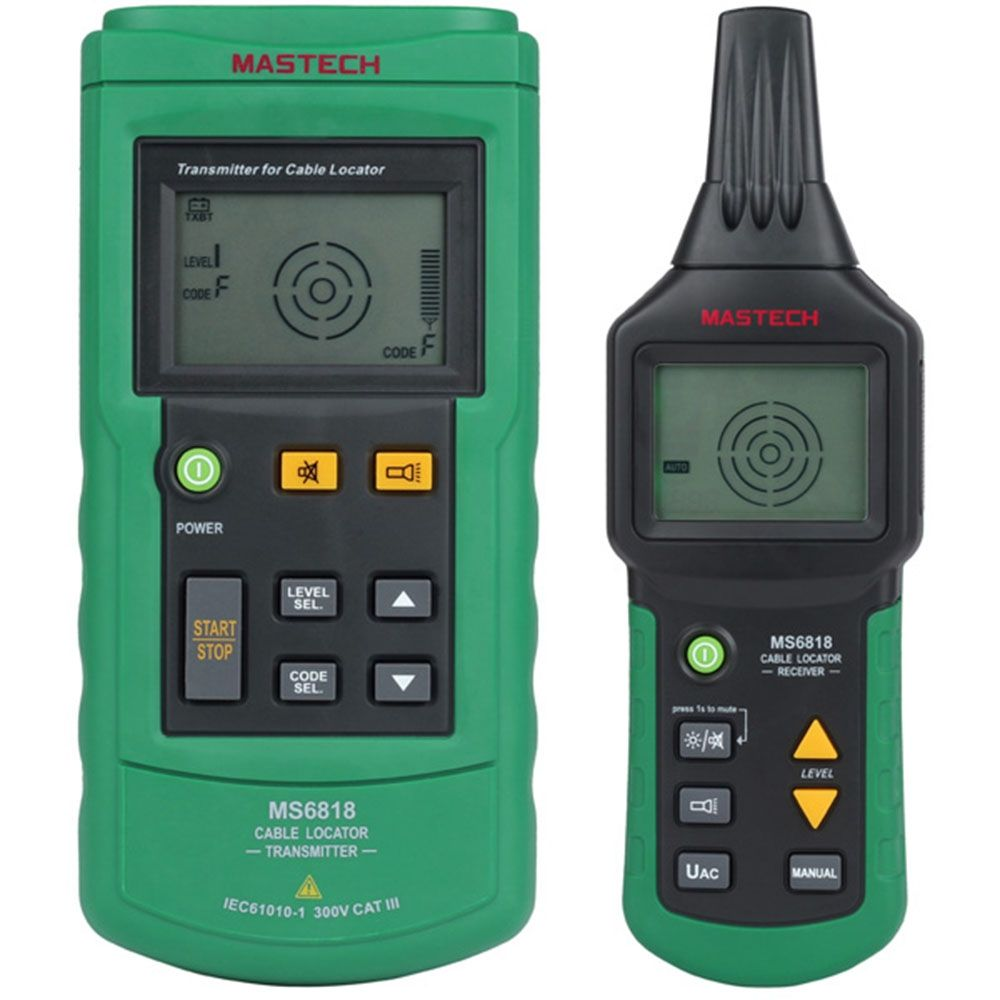 MASTECH MS6818 Advanced Wire Cable Tester Cable Tracker Multi-function Detector 12~400V Pipe Locator Meter Pressure Transmitter