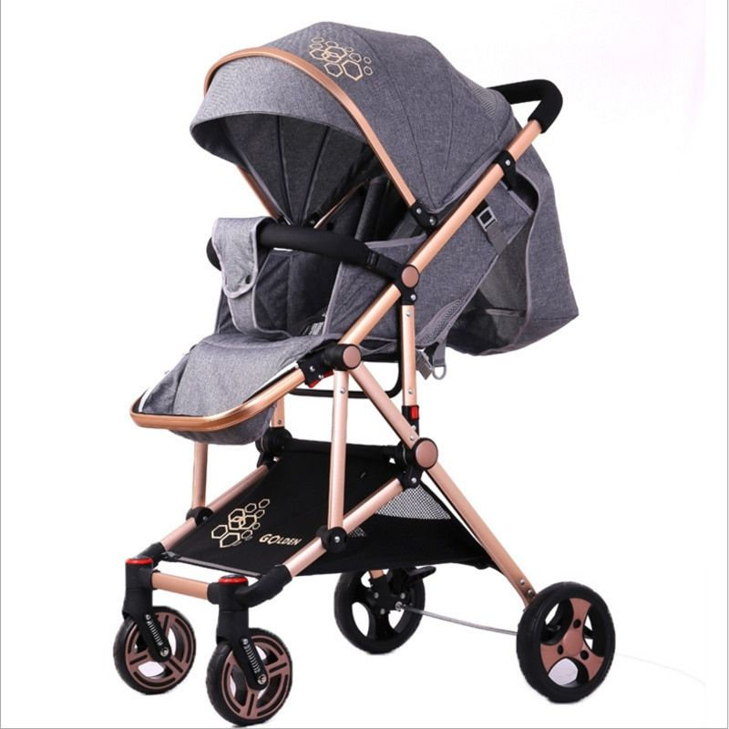 High landscape strollers ultra-light portable folding can sit reclining baby handcart umbrella free home delivery