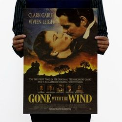 Gone with the Wind Vintage Kraft Paper Movie Poster Home School Office Decoration Art Classic Retro Posters