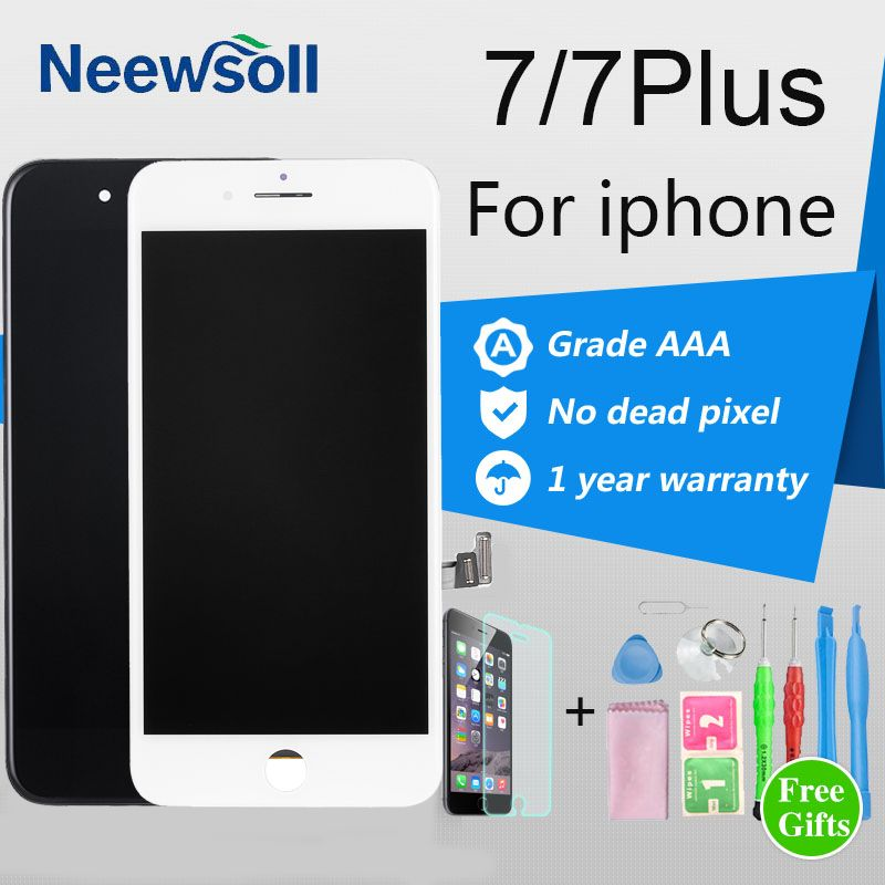 Neewsoll aaa Display Pantalla For iPhone 7 7 Plus LCD Display Assembly With 3D Touch Screen Digitizer Replacement Black/White