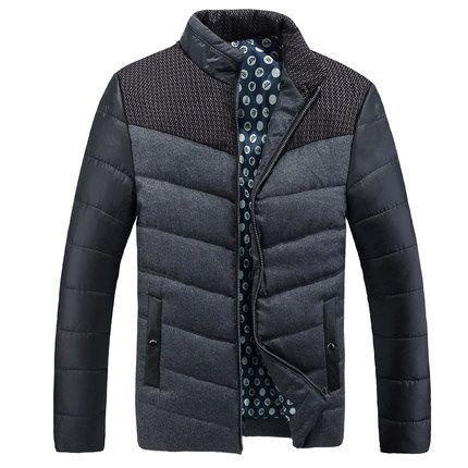 Quincuagenario wadded chaqueta masculina del espesamiento del invierno del collar del soporte más tamaño diseño térmico corta Chaqueta de algodón acolchado