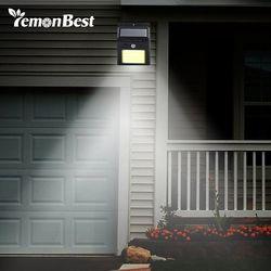 48 luz solar LED infrarrojo humano PIR sensor de movimiento lámpara de pared seguridad Iluminación de exterior impermeable IP65 jardín lámpara de camino