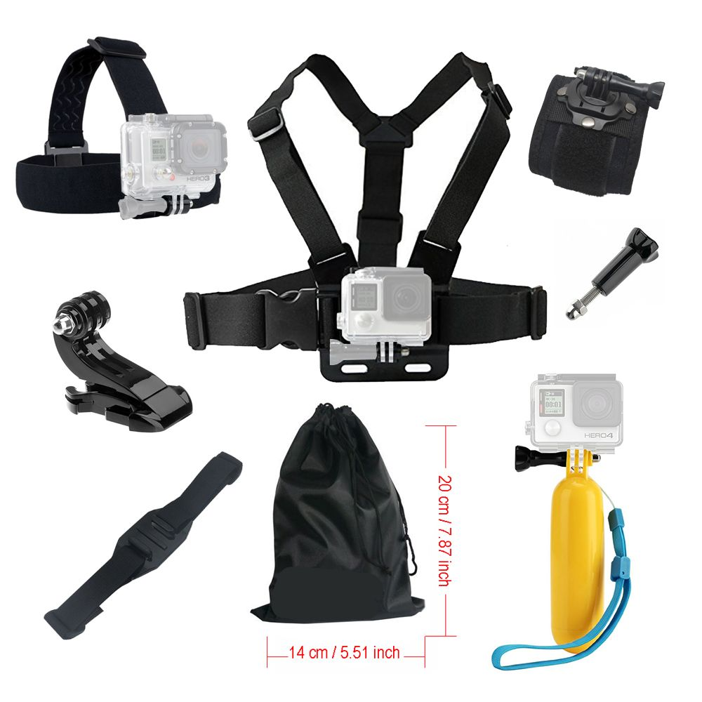 Set For Gopro hero 5 Accessories Floating Grid For Xiaomi Yi 4K SJCAM SJ4000 Strap For Go pro 6 Mount Kit For EKEN Action camera
