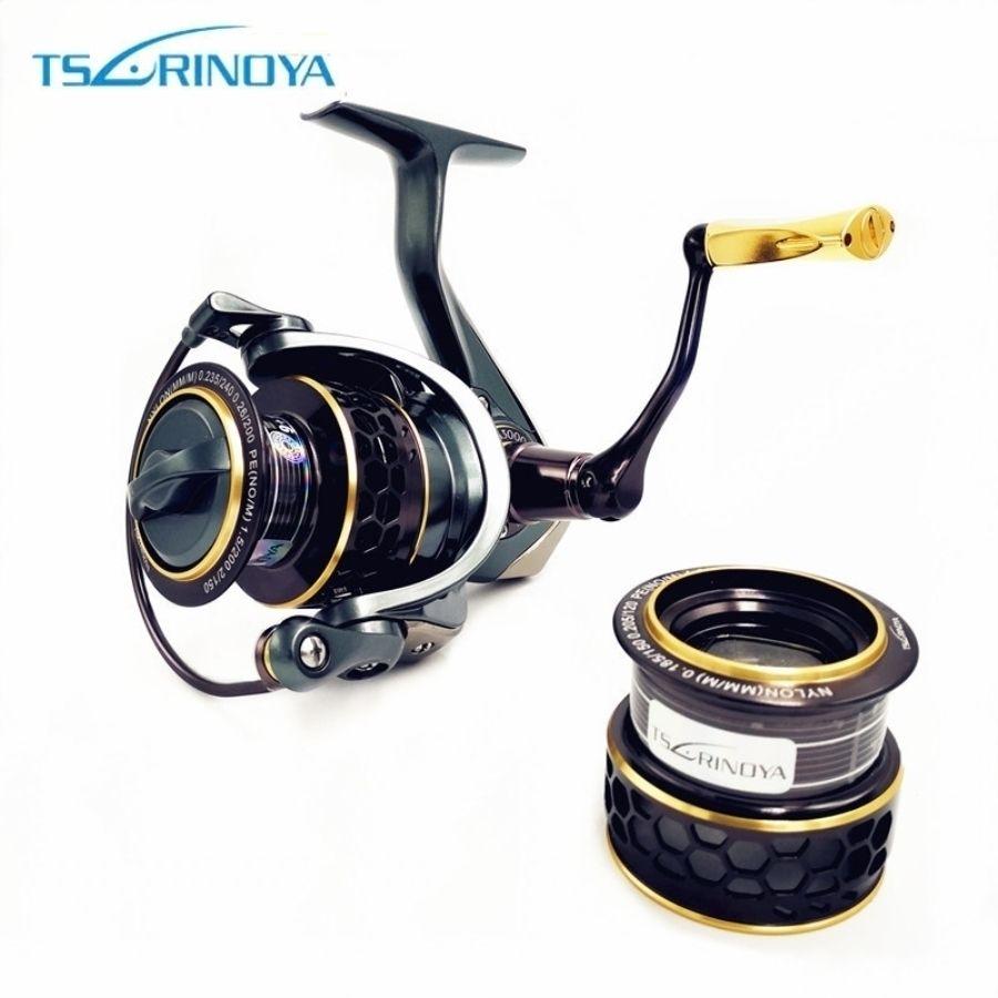 TSURINOYA Jaguar 4000 3000 2000 1000 Large Low Profile Double Spool Fishing Spinning Reel Saltwater Fishing Reels Carp Reels