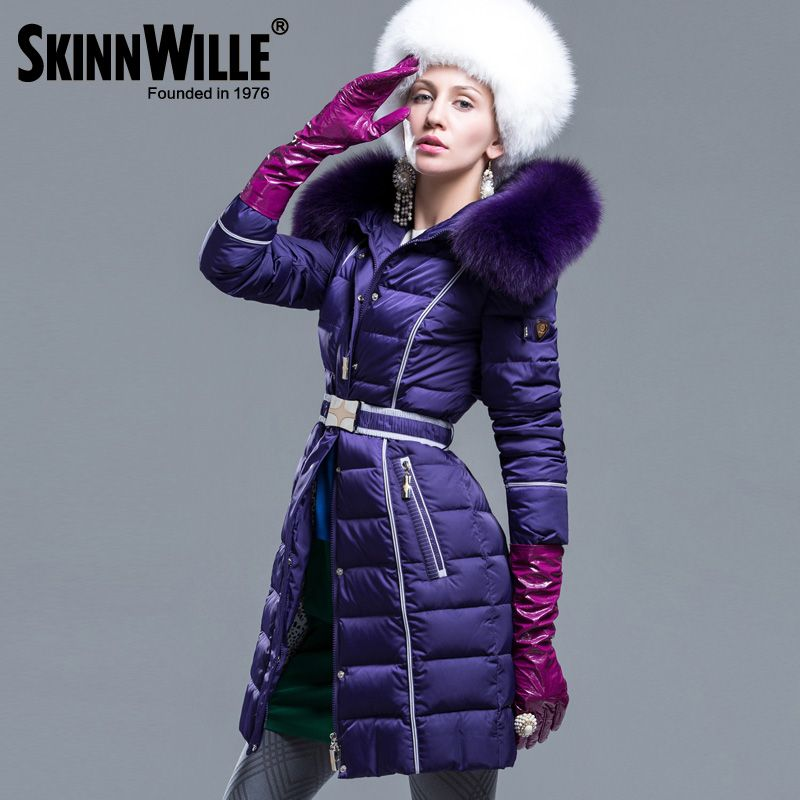 Fashion high quality 2017 thickening large fur collar coat medium-long female new arrival