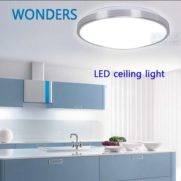 SMD5730 минимализм Алюминий светодиодный потолочный светильник для внутренних светодиодных потолочный светильник светодиодный свет кухня