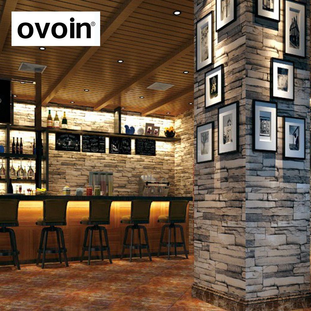 Сложены искусственного камня кирпичная стена Бумага коричневый серый белый винил кирпич эффект стены Бумага фон Задний план Desktop